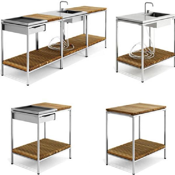 Meuble de cuisine exterieur meuble exterieur en inox for Meuble cuisine exterieur inox